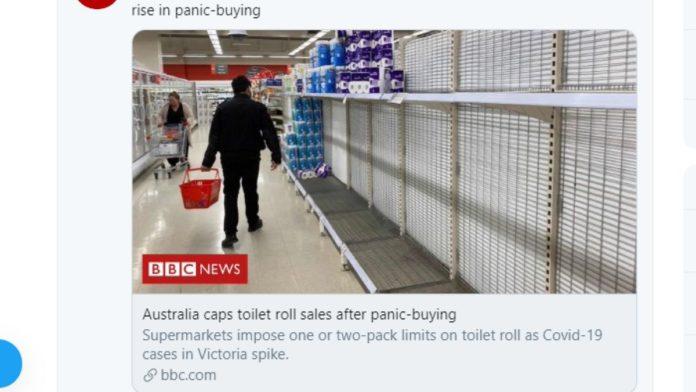 Australia emergenza carta igienica