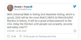 Trump tweet rinvio voto