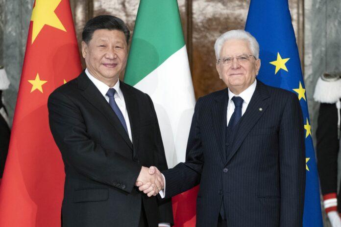 Italia Cina Mattarella Xi