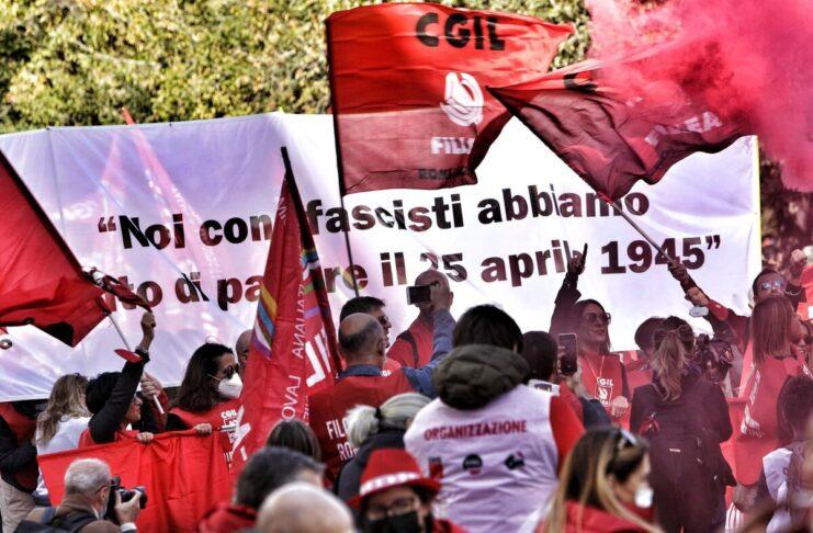 CGIL manifestazione fascismo